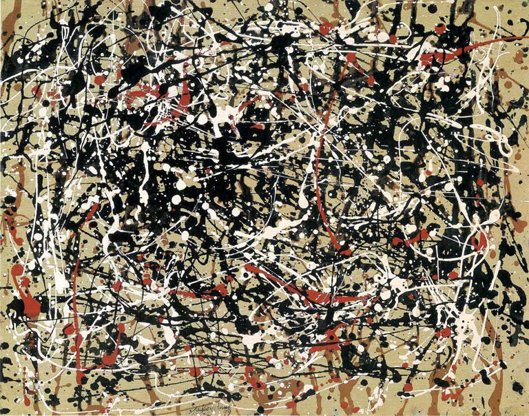 ***WARNING*** RESTRICTED USAGE ---  Permission is needed for each use!  Contact: fake  --- Hold for story slugged please call nak x1138 - THIS IS A KNOEDLER FAKE ***         This is a fake copy of Jackson Pollock, aka the green pollock, aka Jack Levy Pollock.    NYTCREDIT: (no credit)